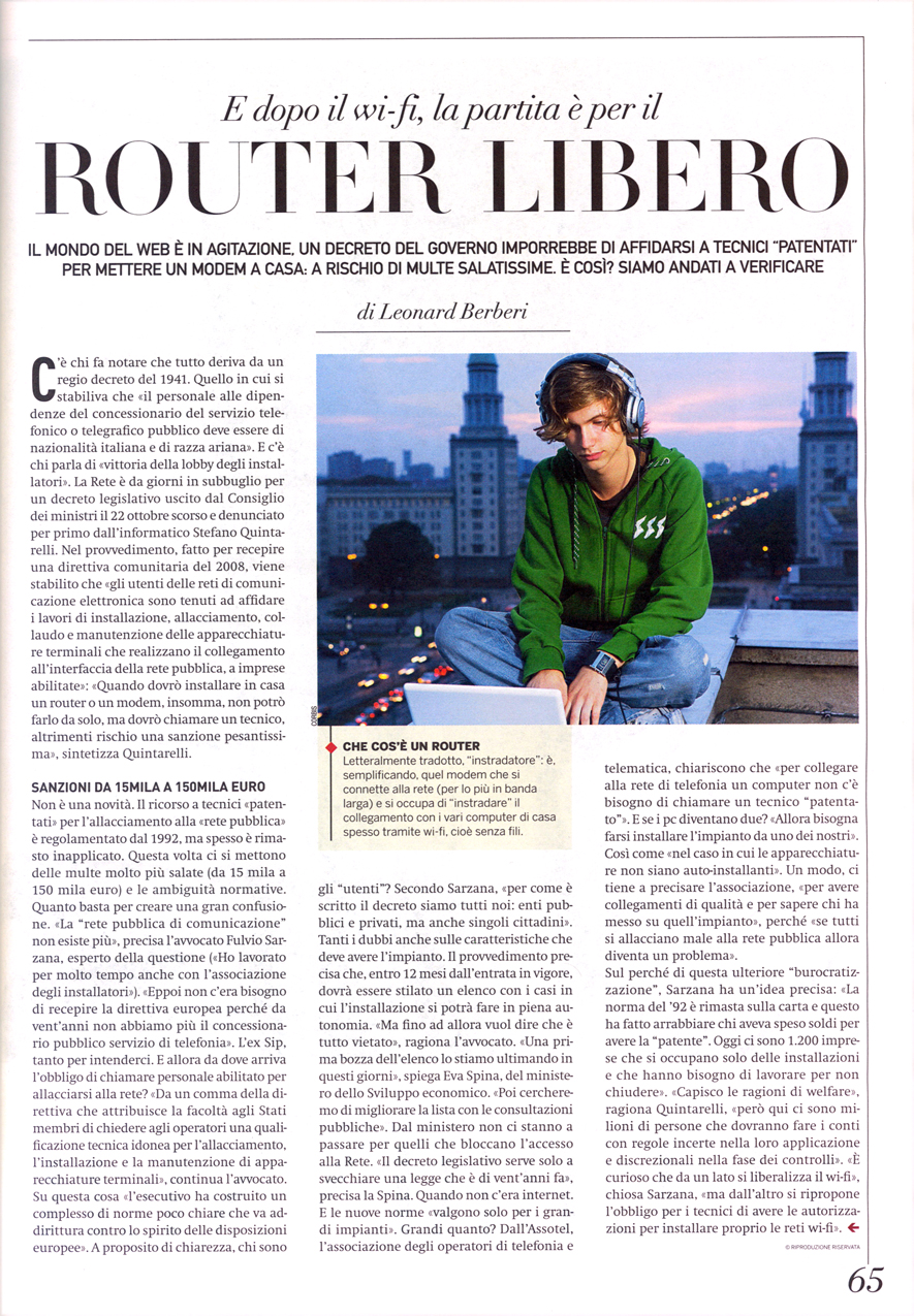 Leonard Berberi su SETTE-Corriere della . e68813623de6